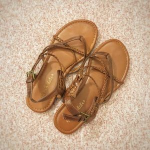 altar'd state strappy leather sandals